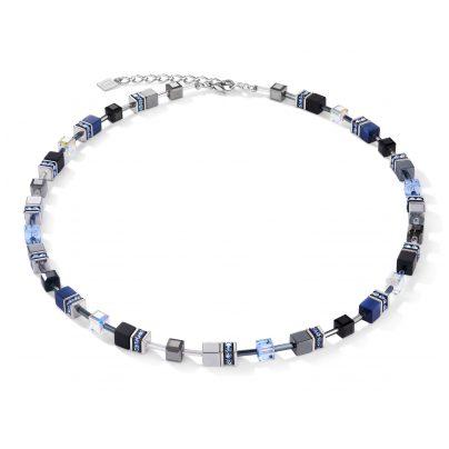 Coeur de Lion 5011/10-0700 Damen-Halskette GeoCUBE Blau 4251588312085