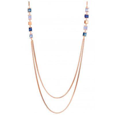 Coeur de Lion 5053/10-0700 Damen-Halskette Edelstahl roségold / blau 4251588312917