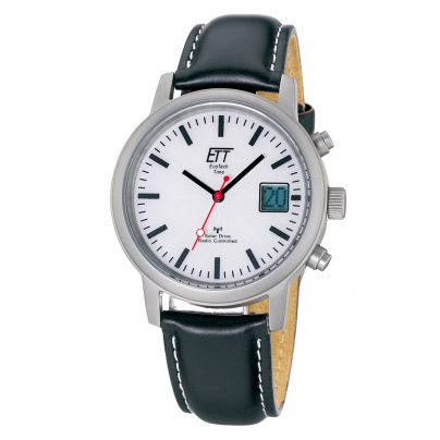 ETT Eco Tech Time EGS-11185-11L Solar Drive Radio Controlled Mens Watch 4260091348320