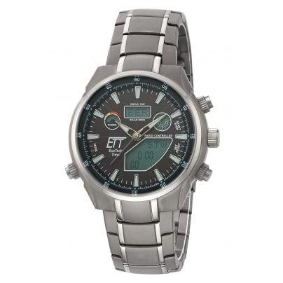 ETT Eco Tech Time EGT-11339-60M Solar Drive RC Mens Watch Aquanaut II 4260411159520
