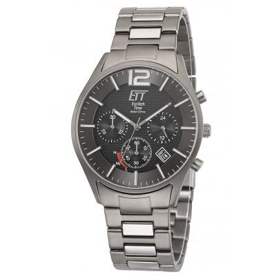 ETT Eco Tech Time EGT-12049-51M Men's Watch Solar Chronograph Titanium 4260503034643