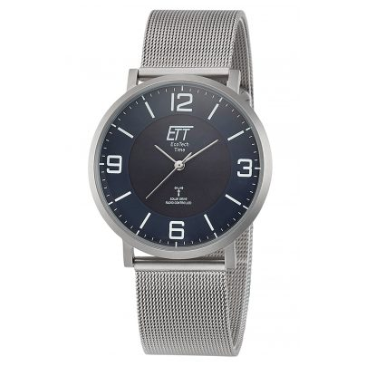 ETT Eco Tech Time EGS-11408-80M Radio-Controlled Solar Men's Watch Atacama Steel 4260503036883
