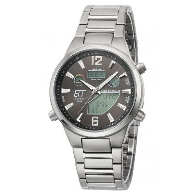 ETT Eco Tech Time EGT-11380-20M Herren Funk-Solaruhr Multifunktion Everest II Titan 4260503034568