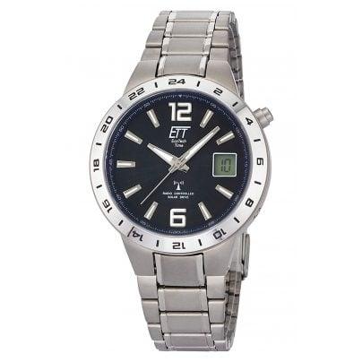 ETT Eco Tech Time EGT-11411-41M Funk-Solar Armbanduhr Titan 4260503036913
