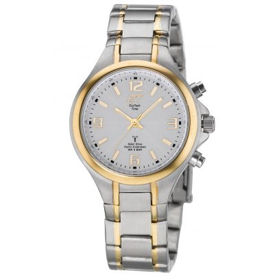ETT Eco Tech Time ELS-11379-76M Radio-Controlled Solar Watch for Ladies Basic Two-Colour 4260503034490