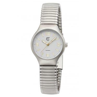 ETT Eco Tech Time ELS-12090-11M Damen-Armbanduhr Sonora Solar mit Zugband Bicolor 4260503036449