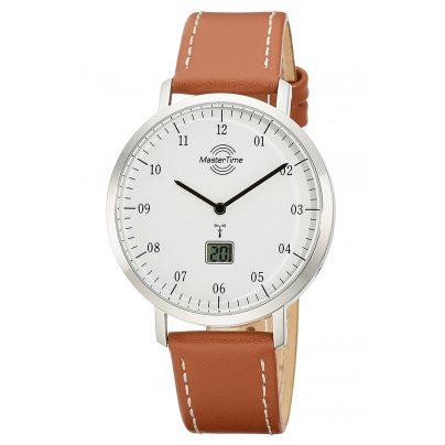 Master Time MTGS-10702-30L Herren-Funkuhr Advanced Architect Lederband Braun 4260503036869