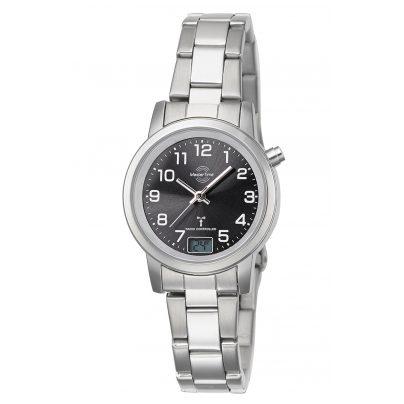 Master Time MTLA-10695-21M Funk-Armbanduhr für Damen Basic mit Stahlband 4260503036753