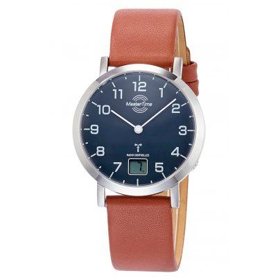 Master Time MTLS-10660-91L Damen-Funkuhr Advanced mit braunem Lederband 4260503033035