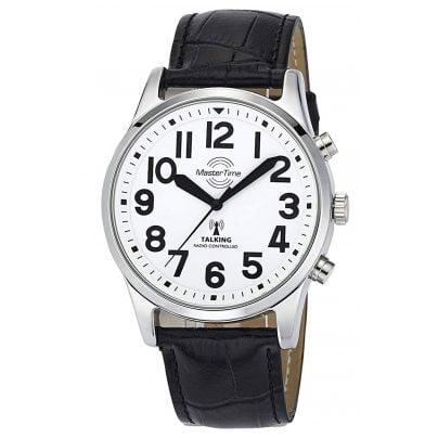 Master Time MTGA-10690-60L Sprechende Funk Herrenuhr mit Lederband 4260503034780