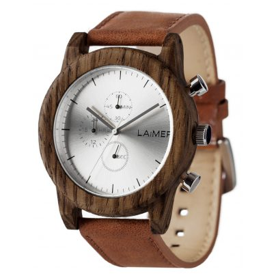 Laimer 0059 Mens Wood Watch Chronograph Paul 0727973247408