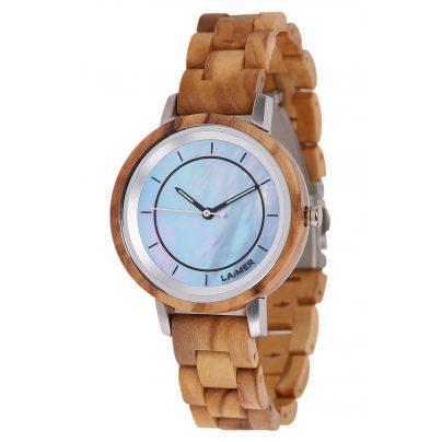 Laimer 0145 Wood Watch for Women Klarissa 4260498092505