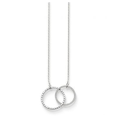 Thomas Sabo KE1490-051-14 Damen-Halskette Together Forever XL Silber 4051245226461