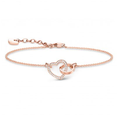 Thomas Sabo A1730-416-14 Armband Together Forever Herz Rosé 4051245319484