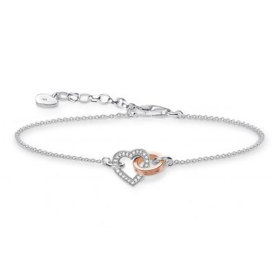 Thomas Sabo D_A0032-095-14-L19v Ladies Bracelet Together Heart 4051245313949