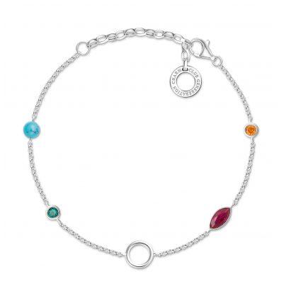 Thomas Sabo X0274-965-7-L19v Damen-Armband für Charms Farbige Steine 4051245433661