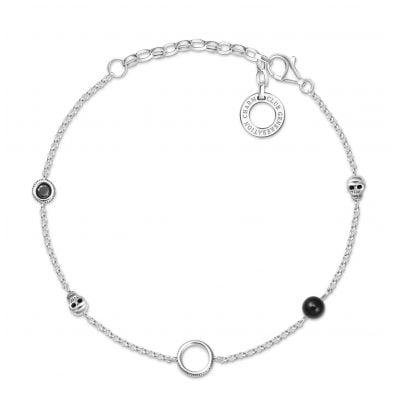 Thomas Sabo X0275-641-11-L19v Damen-Armband für Charms Totenkopf 4051245433678