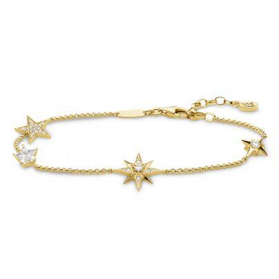 Thomas Sabo A1916-414-14-L19V Damen-Armband Sterne Silber vergoldet 4051245450941