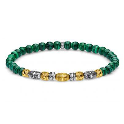 Thomas Sabo A1920-140-6 Bead-Armband Talisman Bicolor Grün