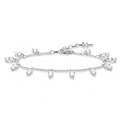 Thomas Sabo A1917-051-14-L19V Silver Bracelet Angular Stones with Baguette Cut 4051245450811