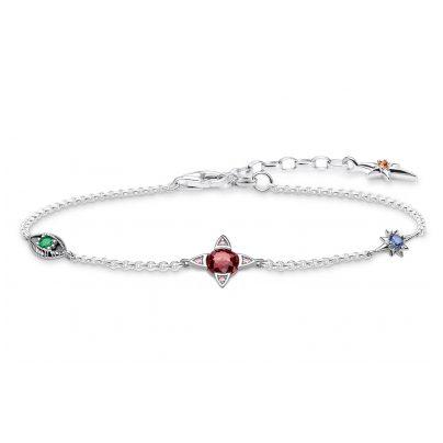 Thomas Sabo A1913-342-7-L19V Damen-Armband Kleine Glücksbringer Silber 4051245450842
