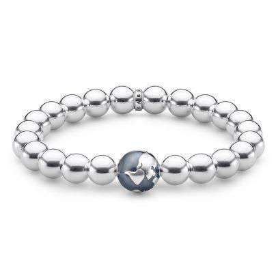 Thomas Sabo A1870-637-21-L18 Unisex Armband Weltkugel Silber 4051245441833