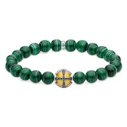 Thomas Sabo A1930-555-6 Unisex-Armband Kreuz Grün