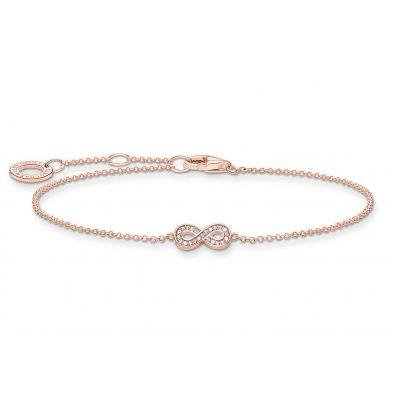 Thomas Sabo A2003-416-14-L19v Armband für Damen Unendlichkeit roségoldfarben 4051245487763