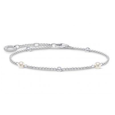 Thomas Sabo A1989-167-14-L19v Silber Damenarmband mit Perlen 4051245491050