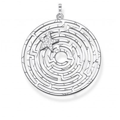 Thomas Sabo PE852-643-14 Anhänger Labyrinth mit silbernem Stern 4051245450675