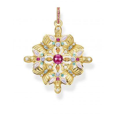 Thomas Sabo PE877-996-7 Anhänger Amulett Kaleidoskop Schmetterling goldfarben 4051245475685