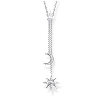 Thomas Sabo KE1900-051-14-L45V Damen-Halskette Stern & Mond Silber 4051245451085