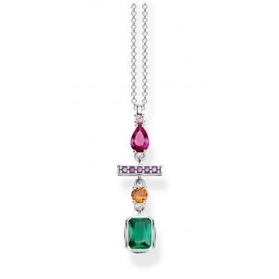 Thomas Sabo KE1892-342-7-L45v Damen-Halskette Farbiger Formenmix Silber 4051245450996