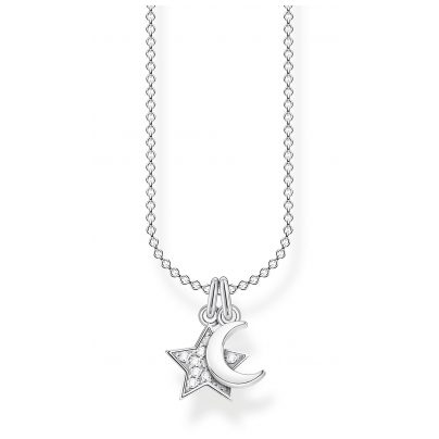 Thomas Sabo KE2068-051-14-L45v Damen-Halskette Silber Stern und Mond 4051245488494