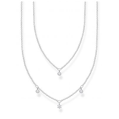 Thomas Sabo KE2078-051-14-L45v Silver Necklace for Ladies with white Stones 4051245488647