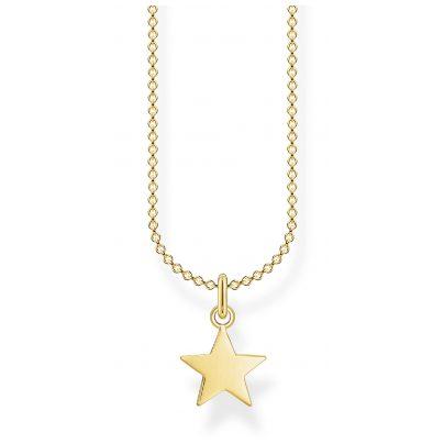 Thomas Sabo KE2053-413-39-L45v Halskette für Damen Stern goldfarben 4051245488333