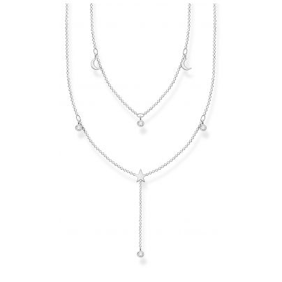 Thomas Sabo KE2070-051-14-L45v Damen-Halskette in Y-Form Silber 4051245488524
