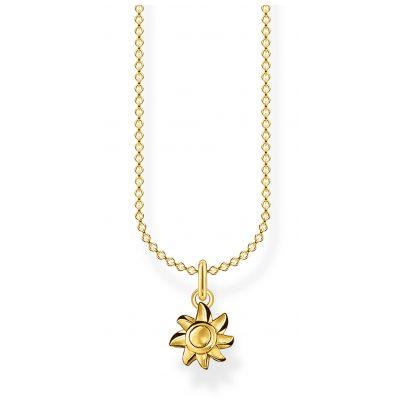 Thomas Sabo KE2058-413-39-L45v Ladies' Necklace Sun Gold Plated Silver 4051245488388