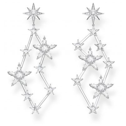 Thomas Sabo H2085-051-14 Women's Drop Earrings Stars Silver 4051245450392