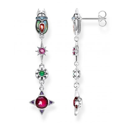 Thomas Sabo H2074-964-7 Women's Drop Earrings Scarab 4051245450552