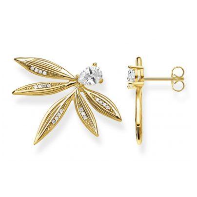 Thomas Sabo H2106-414-14 Ohrringe für Damen Blätter Silber vergoldet 4051245474329