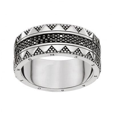 Thomas Sabo TR2107-643-11 Unisex-Ring Hieroglyphen-Ornamentik