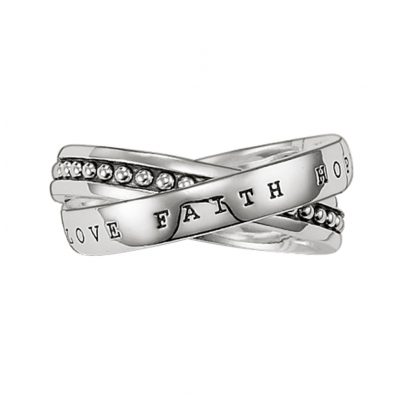 Thomas Sabo TR1930-001-12 Silver Ring Faith, Love, Hope