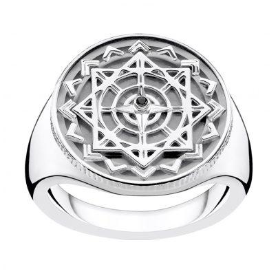 Thomas Sabo D_TR0041-714-11 Unisex-Ring Vintage Kompass Silber