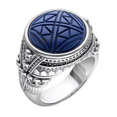 Thomas Sabo TR2204-534-1 Unisex Ring Ethno Totenköpfe blau