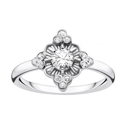 Thomas Sabo TR2221-643-14 Damen-Ring Royalty weiß