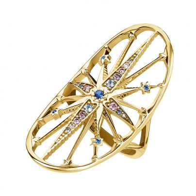 Thomas Sabo TR2223-959-7 Damen-Ring Royalty Stern blau