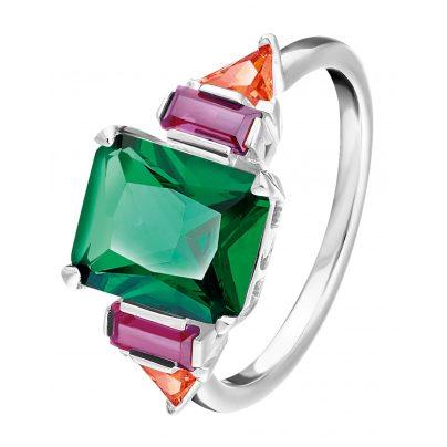 Thomas Sabo TR2262-477-7 Silber Damen-Ring Farbige Steine