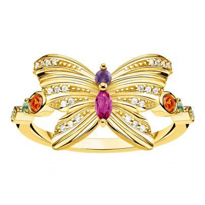 Thomas Sabo TR2285-488-7 Damen-Ring Schmetterling goldfarben
