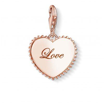 Thomas Sabo 1502-415-40 Charm Pendant Token of Love Rose 4051245353969